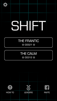 A screen shot of Shift for iPhone and iPod Touch.
